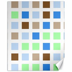 Colorful Green Background Tile Pattern Canvas 16  X 20
