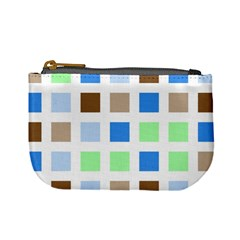 Colorful Green Background Tile Pattern Mini Coin Purses