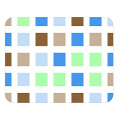 Colorful Green Background Tile Pattern Double Sided Flano Blanket (large)  by Amaryn4rt