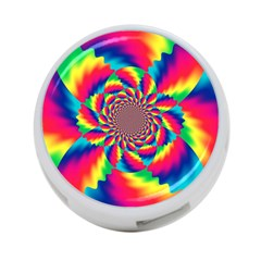 Colorful Psychedelic Art Background 4 Port Usb Hub (one Side) by Amaryn4rt