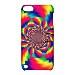 Colorful Psychedelic Art Background Apple Ipod Touch 5 Hardshell Case With Stand by Amaryn4rt