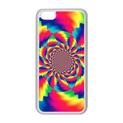 Colorful Psychedelic Art Background Apple Iphone 5c Seamless Case (white) by Amaryn4rt