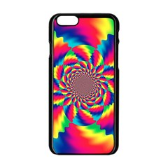 Colorful Psychedelic Art Background Apple Iphone 6/6s Black Enamel Case by Amaryn4rt