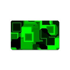 Cyber Glow Magnet (name Card) by Amaryn4rt