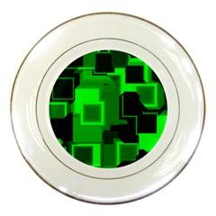 Cyber Glow Porcelain Plates by Amaryn4rt