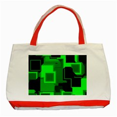 Cyber Glow Classic Tote Bag (red) by Amaryn4rt