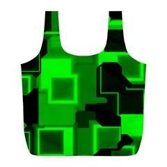 Cyber Glow Full Print Recycle Bags (l)  by Amaryn4rt