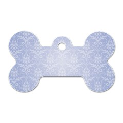 Damask Pattern Wallpaper Blue Dog Tag Bone (two Sides)