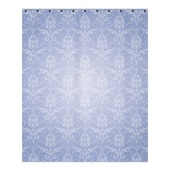 Damask Pattern Wallpaper Blue Shower Curtain 60  X 72  (medium)  by Amaryn4rt