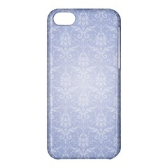 Damask Pattern Wallpaper Blue Apple Iphone 5c Hardshell Case by Amaryn4rt