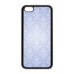 Damask Pattern Wallpaper Blue Apple Iphone 5c Seamless Case (black) by Amaryn4rt