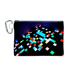 Dance Floor Canvas Cosmetic Bag (M)