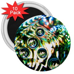 Dark Abstract Bubbles 3  Magnets (10 Pack)  by Amaryn4rt