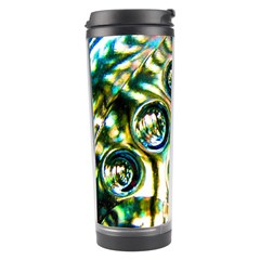 Dark Abstract Bubbles Travel Tumbler by Amaryn4rt