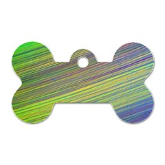 Diagonal Lines Abstract Dog Tag Bone (two Sides)