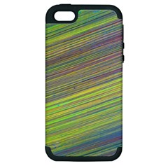 Diagonal Lines Abstract Apple Iphone 5 Hardshell Case (pc+silicone)