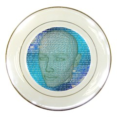 Digital Pattern Porcelain Plates by Amaryn4rt