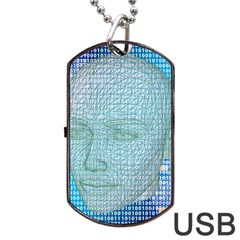 Digital Pattern Dog Tag Usb Flash (two Sides) by Amaryn4rt