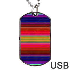 Fiesta Stripe Colorful Neon Background Dog Tag Usb Flash (two Sides) by Amaryn4rt