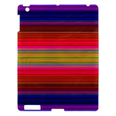 Fiesta Stripe Colorful Neon Background Apple Ipad 3/4 Hardshell Case by Amaryn4rt