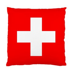 Flag Of Switzerland Standard Cushion Case (two Sides)