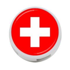 Flag Of Switzerland 4 Port Usb Hub (two Sides)