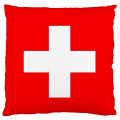 Flag Of Switzerland Large Flano Cushion Case (two Sides) by Amaryn4rt