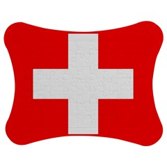 Flag Of Switzerland Jigsaw Puzzle Photo Stand (bow) by Amaryn4rt