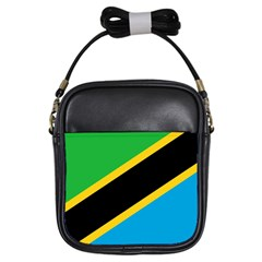 Flag Of Tanzania Girls Sling Bags by Amaryn4rt