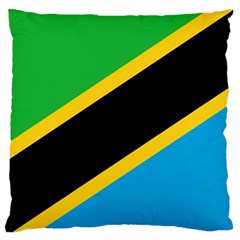 Flag Of Tanzania Large Flano Cushion Case (two Sides)