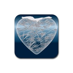 Frozen Heart Rubber Square Coaster (4 Pack)  by Amaryn4rt