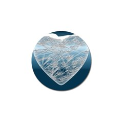 Frozen Heart Golf Ball Marker