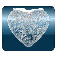 Frozen Heart Double Sided Flano Blanket (small)  by Amaryn4rt