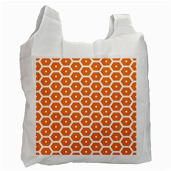Golden Be Hive Pattern Recycle Bag (Two Side)  by Amaryn4rt