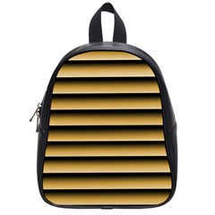 Golden Line Background School Bags (Small)  by Amaryn4rt