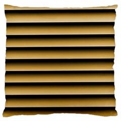 Golden Line Background Large Cushion Case (two Sides)
