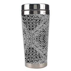 Gray Psychedelic Background Stainless Steel Travel Tumblers by Amaryn4rt
