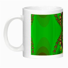 Green And Purple Fractal Night Luminous Mugs by Amaryn4rt