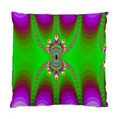 Green And Purple Fractal Standard Cushion Case (one Side) by Amaryn4rt