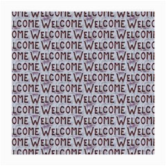 Welcome Letters Pattern Medium Glasses Cloth by dflcprints