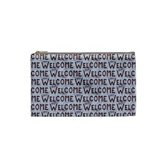 Welcome Letters Pattern Cosmetic Bag (small)  by dflcprints