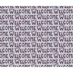 Welcome Letters Pattern Deluxe Canvas 14  x 11  14  x 11  x 1.5  Stretched Canvas