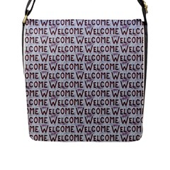Welcome Letters Pattern Flap Messenger Bag (l)  by dflcprints