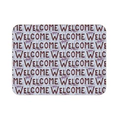 Welcome Letters Pattern Double Sided Flano Blanket (mini)  by dflcprints