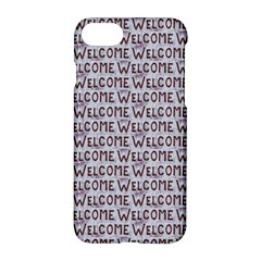 Welcome Letters Pattern Apple Iphone 7 Hardshell Case by dflcprints