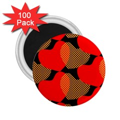 Heart Pattern 2 25  Magnets (100 Pack)  by Amaryn4rt
