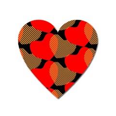Heart Pattern Heart Magnet by Amaryn4rt