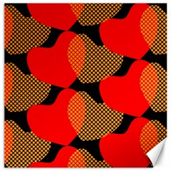 Heart Pattern Canvas 12  X 12   by Amaryn4rt