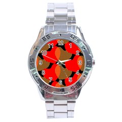 Heart Pattern Stainless Steel Analogue Watch by Amaryn4rt