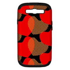 Heart Pattern Samsung Galaxy S Iii Hardshell Case (pc+silicone) by Amaryn4rt